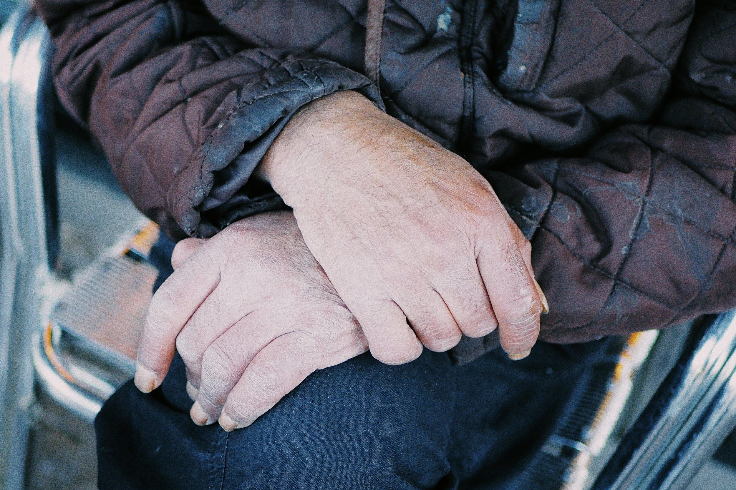 Hands.