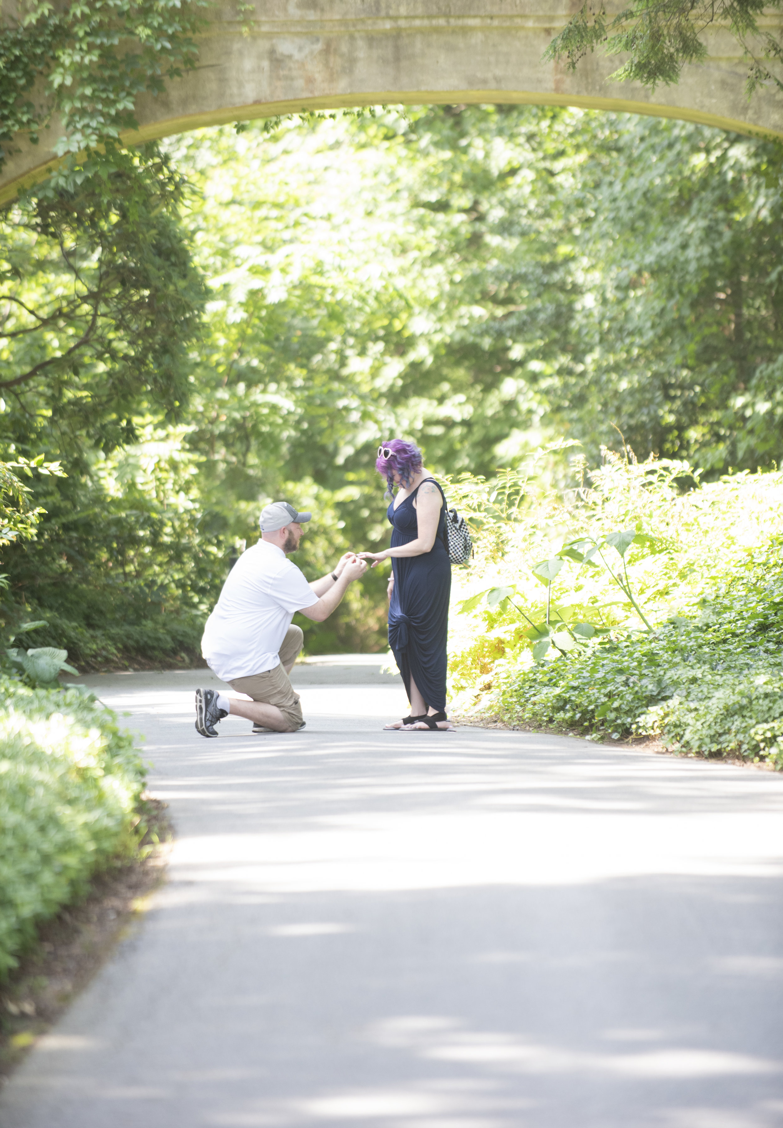 katie and marcs surprise proposal at longwood gardens