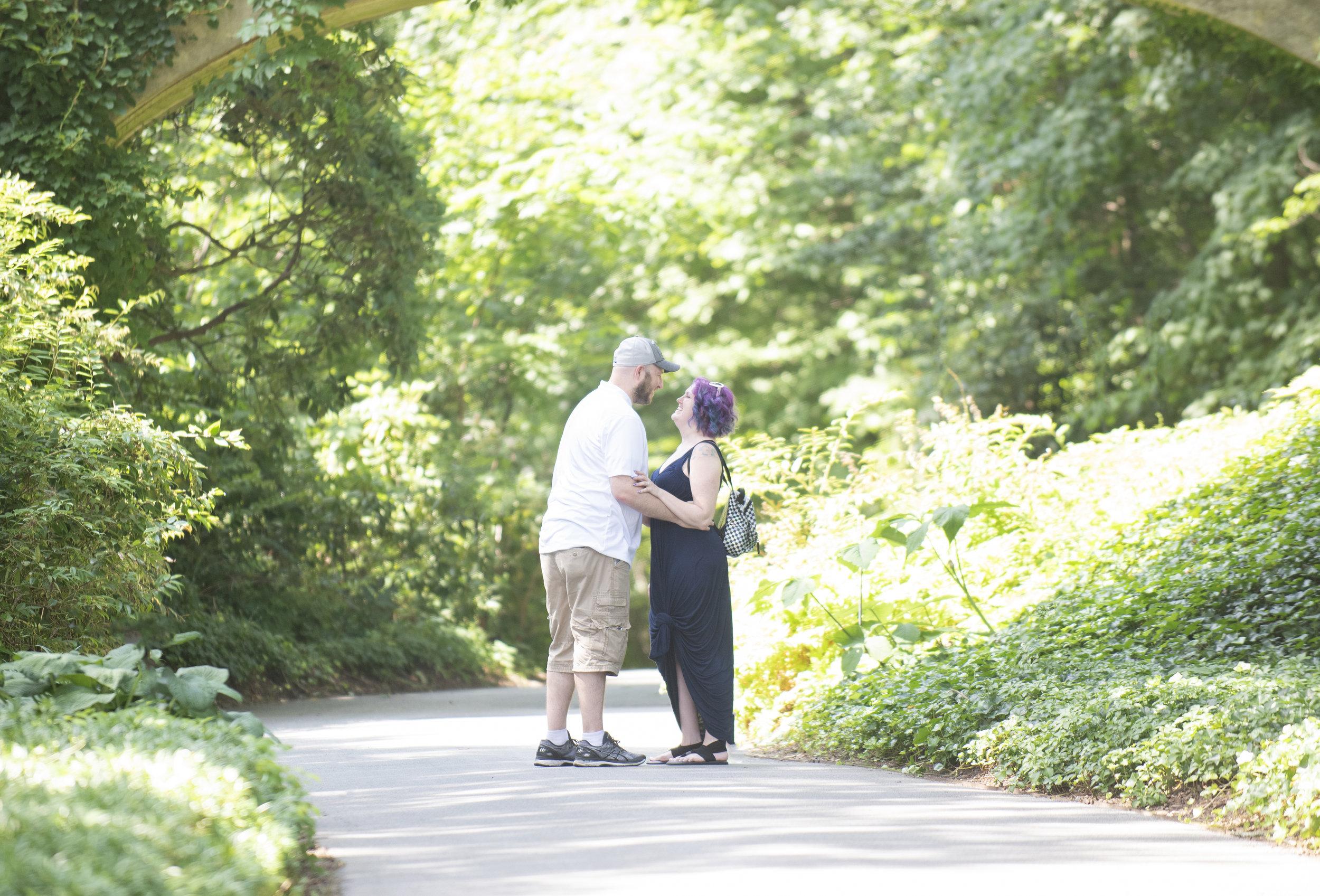 surprise proposal at longwood gardens