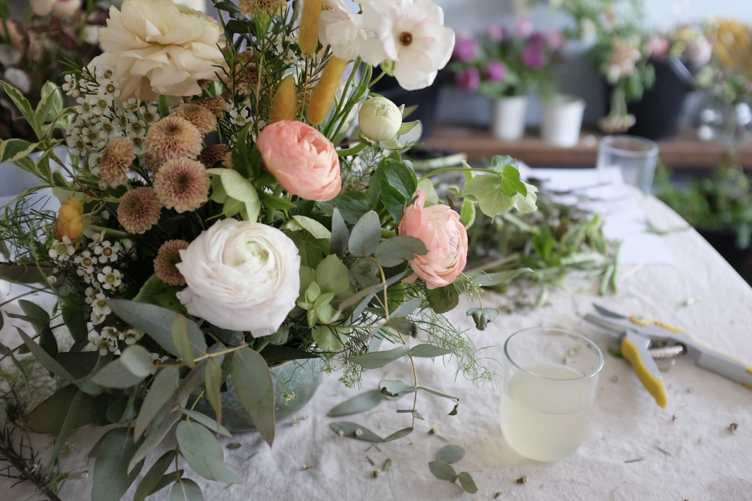 I took myself off to a floristry workshop. I am looking forward to attending more workshops this year.
