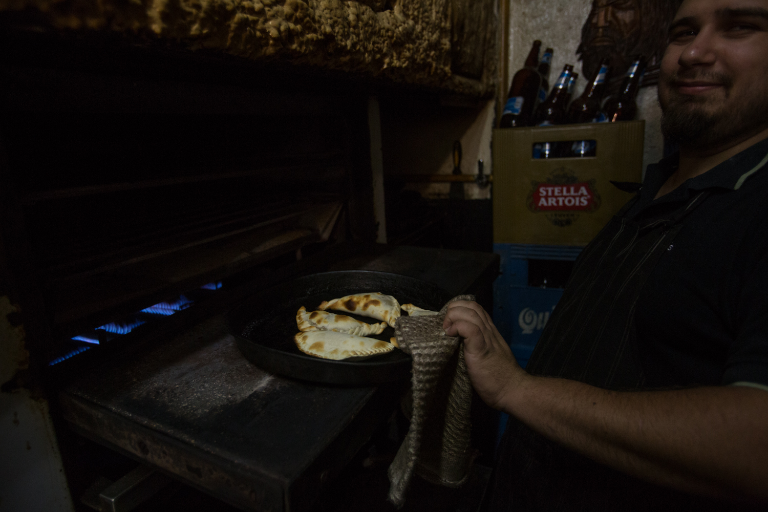 Our order as it emerged from the oven at Ña Serapia.