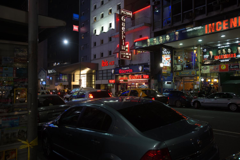 One of several alluring pizzerias along Avenida Corrientes.