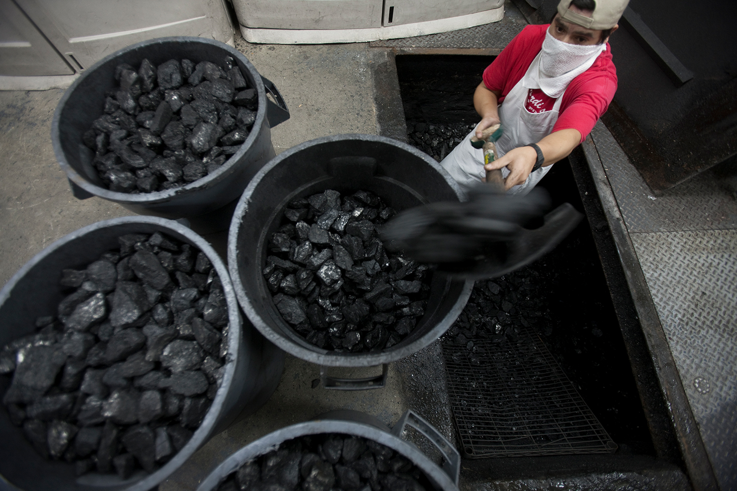 According to Brescio, Lombardi's goes through about 1,000 pounds of anthracite coal PER DAY!