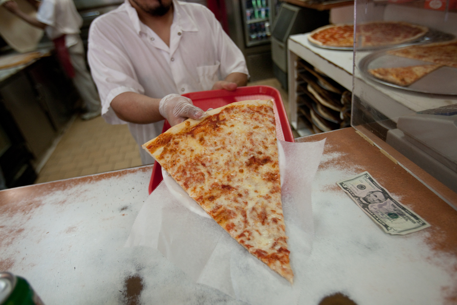 At $3.75 per slice, it's a meal option as cheap as any around.