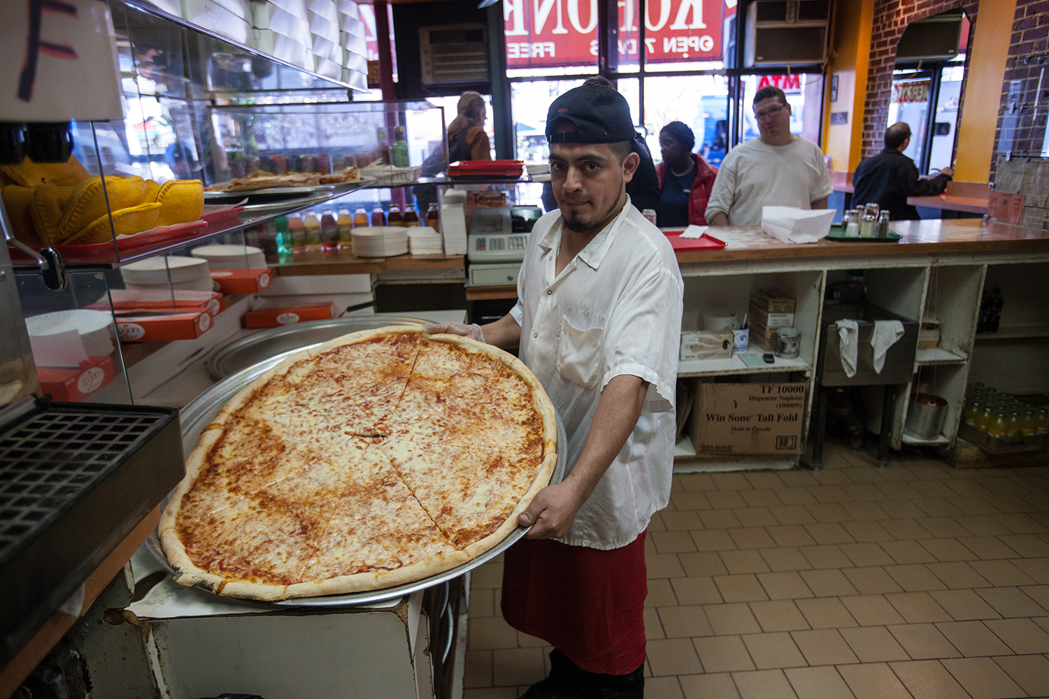 "Five years after opening in 1981, Koronet upped the diameter of its pies from 26"" to 32""."