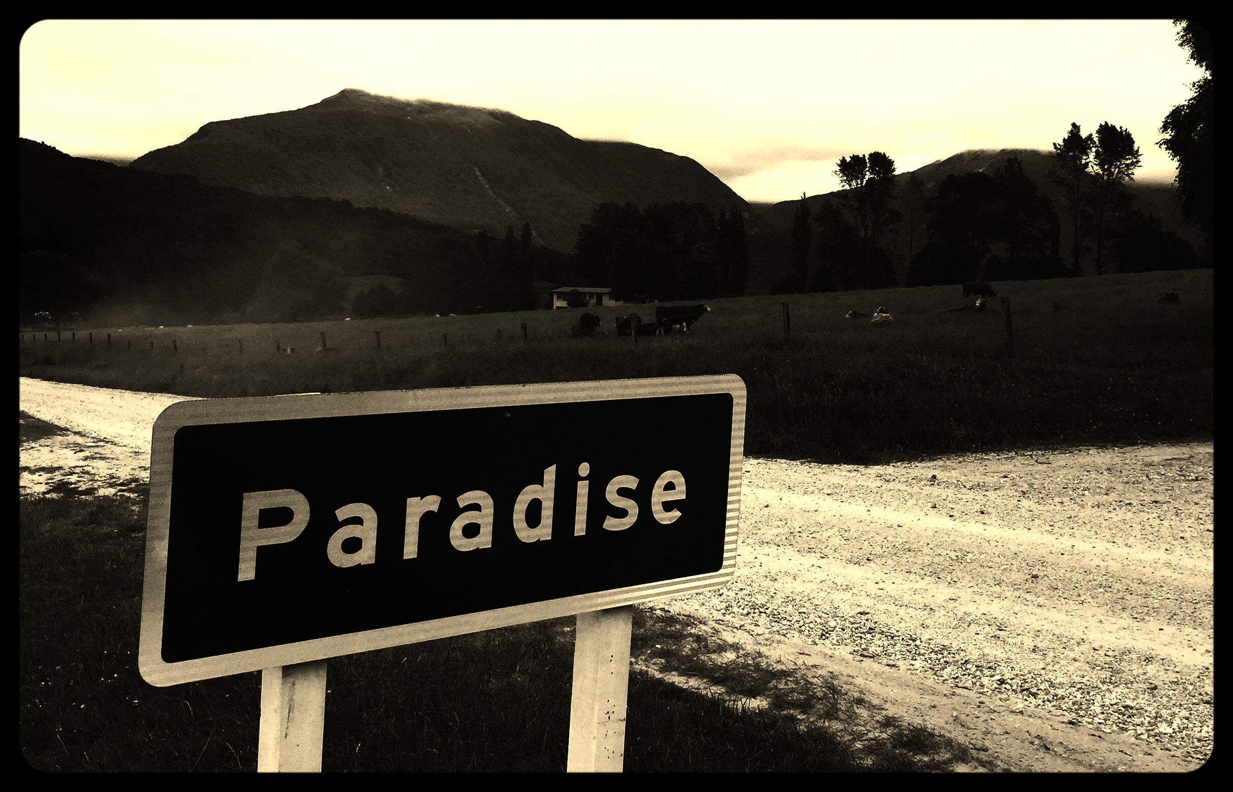 """Paradise, New Zealand .""""There is no hunger in paradise."""" - Rasmus Ankersen"""