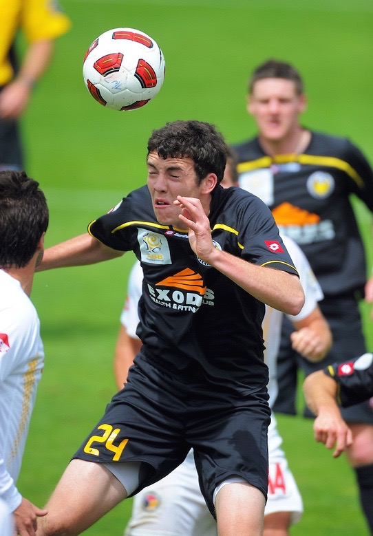 Caterpillar version of Tyler Lissette   (2010). Team Wellington (ASB Premiership) age 19. Photo Courtesy of  Dave Lintott  Photography