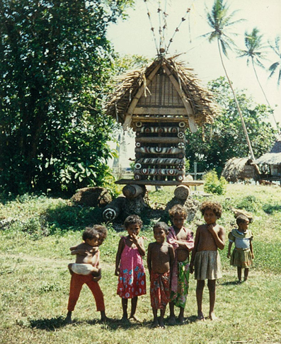 Yam House - children in front of the yam house