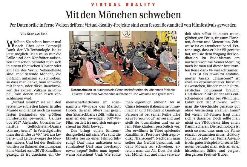 Berliner Zeitung - Article about Polyhedron VR on Berliner Zeitung (in german).