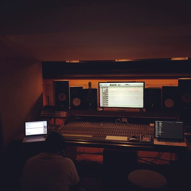 @wilburworldwide listening to mixes for the album last night! So close to the finish line.