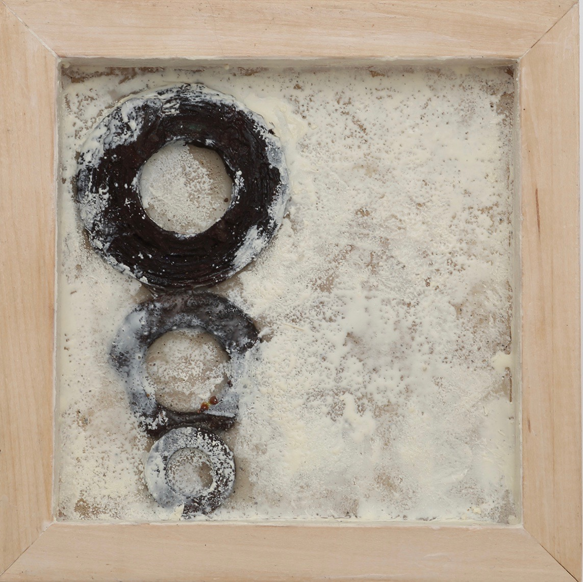 SPIRIT - Found metal and encaustic in birch wood panel8