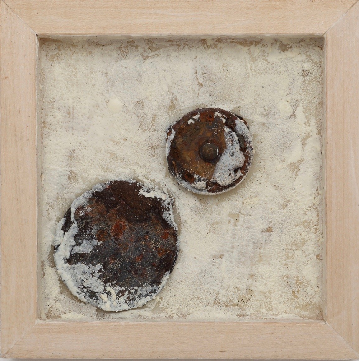 ROCKY - Found metal and encaustic in birch wood panel8
