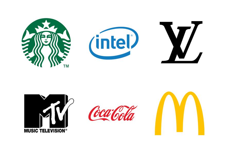 Single-color logos