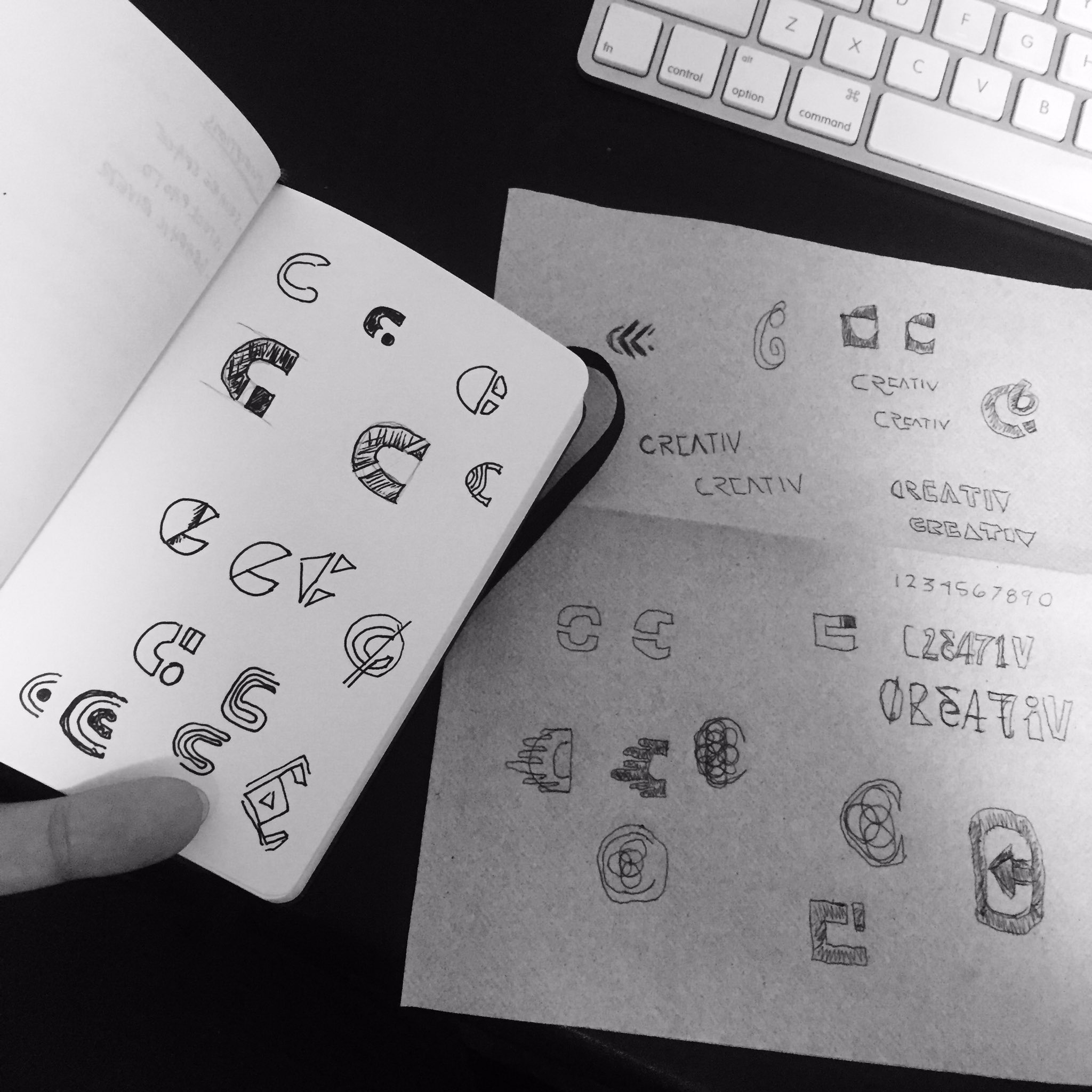 """On September 2nd, I posted this image on Twitter with a caption that said """"Sketching out random ideas. Trying to summon the mark."""""""