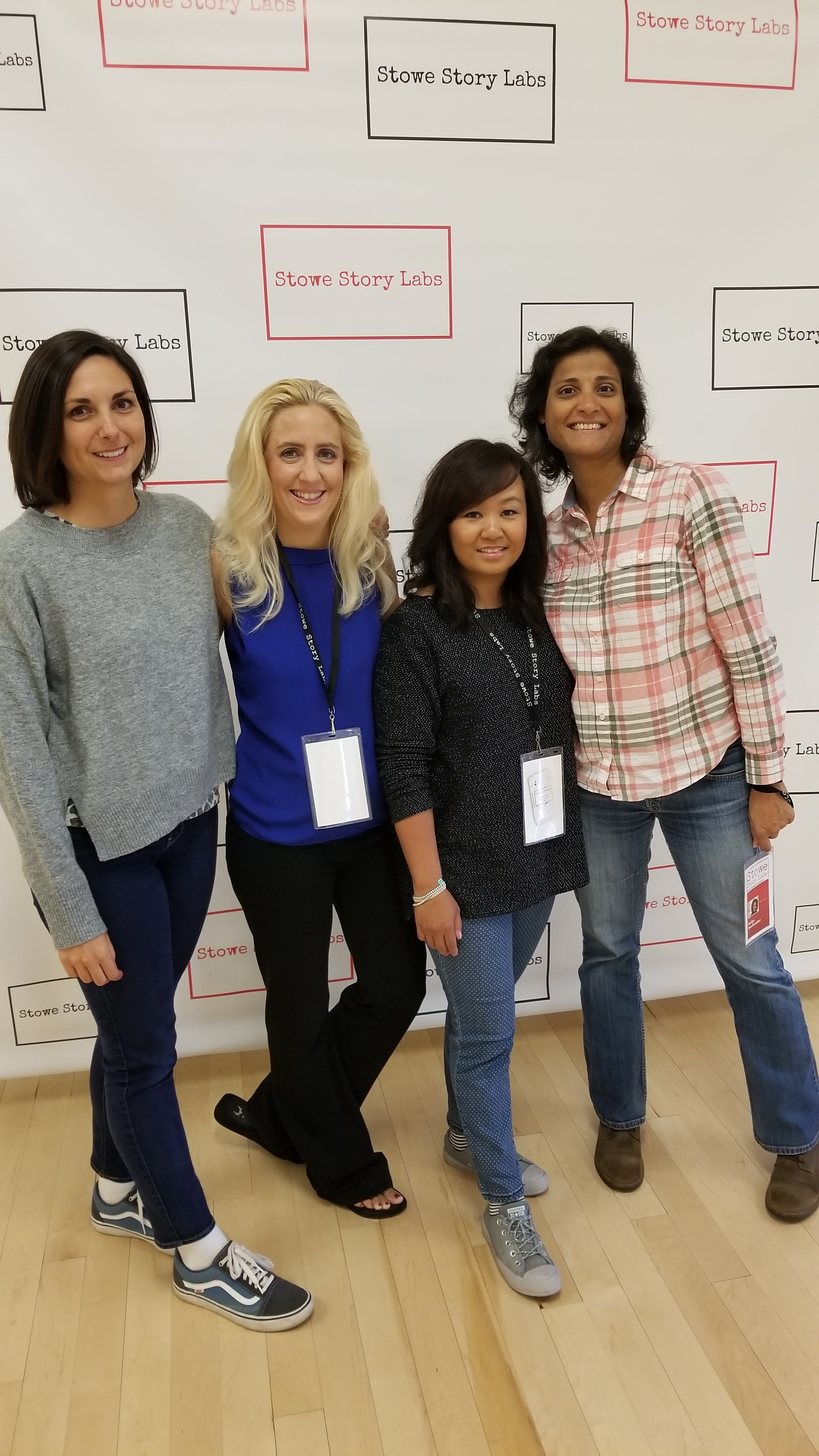 My phenomenal peer group: Valerie Bischoff, Lisa Rysinger, Natasha Chee. Look out for these amazingly talented ladies! Great stories here.