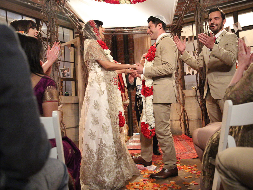 New Girl season five finale where Cece and Schmidt get married.