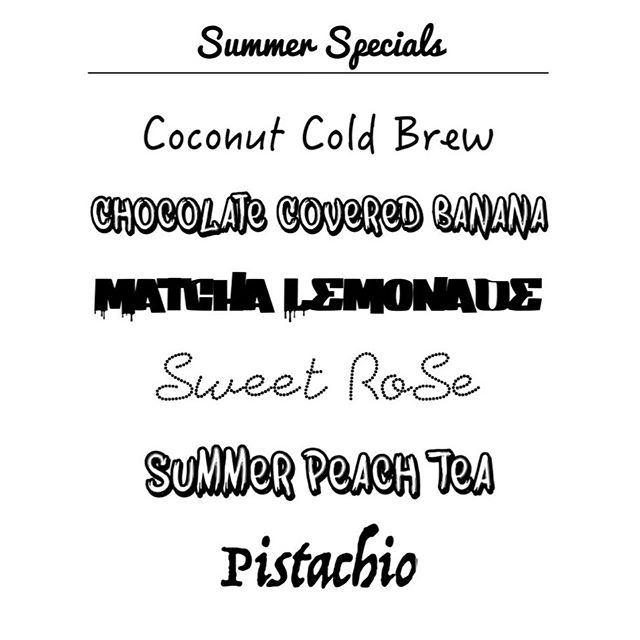 SUMMER MENU AVAILABLE NOW ☀️🌴 #coldbrew #latte #coffee #flavours #coffeehouse #noho