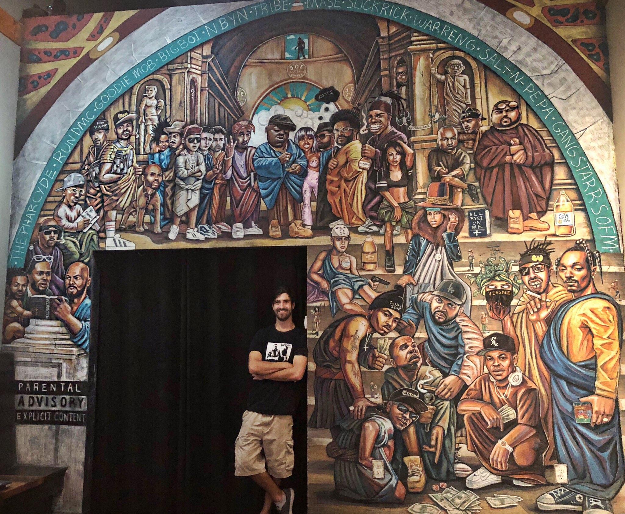 """Skool of Joe""  (2018) Medium: Chalk Inspiration: ""The School of Athens"" by Raphael"