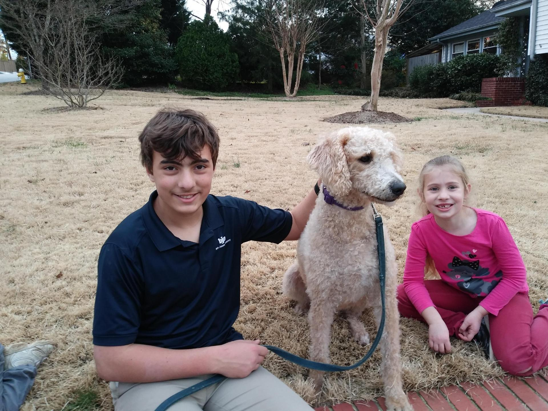 Buffy, the Labradoodle mom