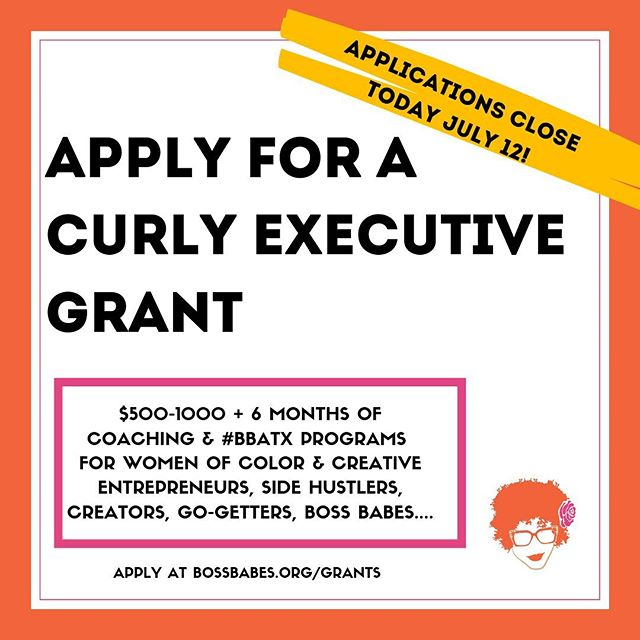 We have been busy busy bees getting set up in Texas and working on amazing programs like this one!! The Vlog officially relaunches in two weeks but in the meantime if you're in Texas and a woman be sure to check out and apply to these grants before they are gone!  GRANT APPLICATION ARE DUE TODAY!! Be sure to get your applications in before 11:59PM CST today!  Texas women be sure to grab this opportunity. You still have time to get it done! It's a google form, simple budget, and a quick phone video — YOU GOT THIS!  Swing by bossbabes.org/grants (@bossbabesatx) to apply now.