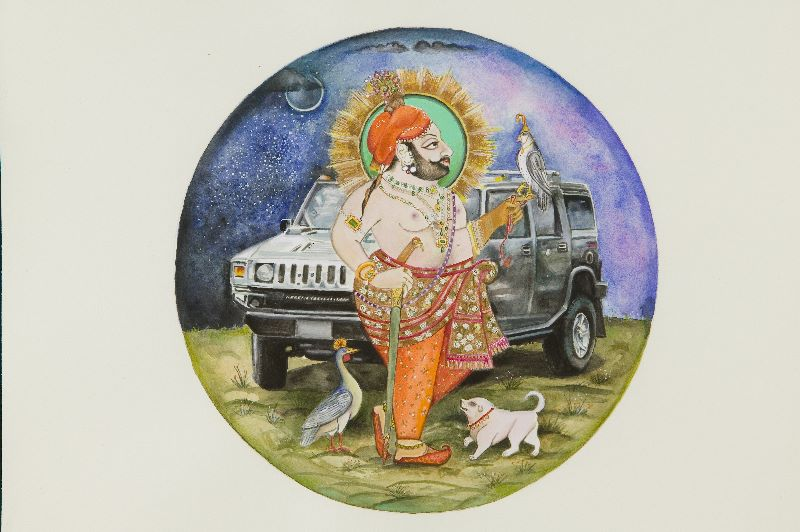 Maharana Bhim Singh of Mewar hums