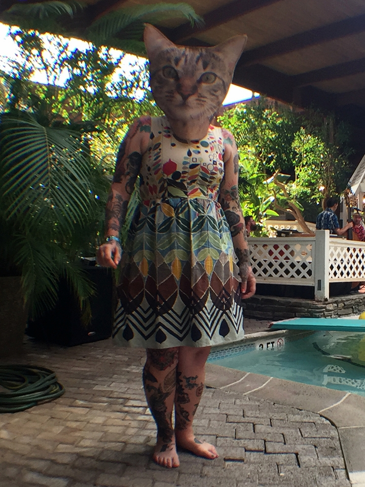 Sara as a tropical cat