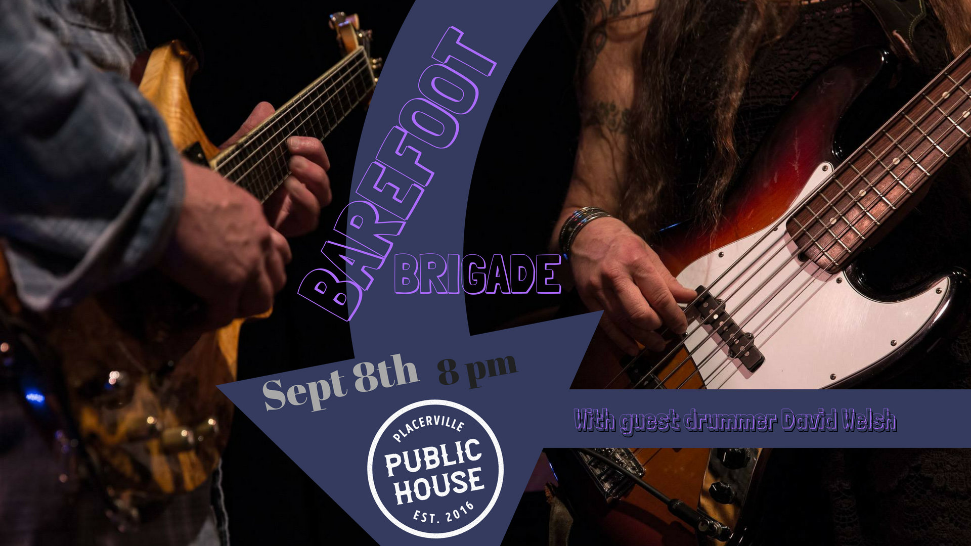 Matt Hartle and Jen Rund bring their foot-stomping fun back to the Placerville Public House, this time 'round joined by David Welsh on drums. From David Bowie to Paul Simon, the Dead and Nina Simone, plus original creations, their eclectic selections and on fire improv are guaranteed to start your weekend off on the right foot!