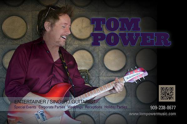 "Tom Power is a solo singer, guitarist and entertainer who resides in the Sacramento area. His specialty is classic Rock n' Roll, R&B, easy-listening and country music from the 1950s to present. He has been a successful solo performer for the past 24 years, and also as a member of several bands including ""You Got Lucky,"" – a Tom Petty tribute band that performs in Las Vegas each summer."