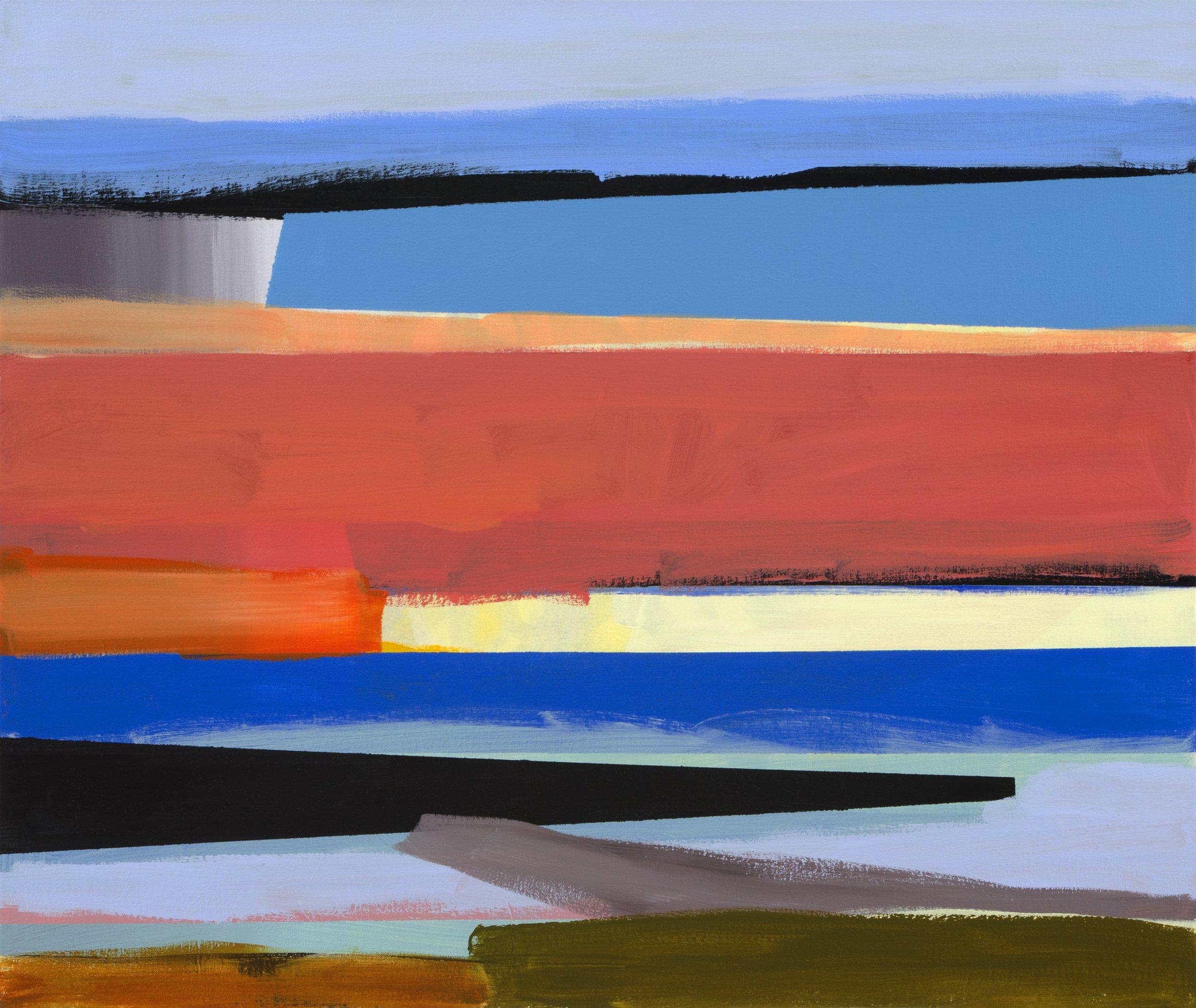 Outlook 5  2009, 64 x 76cm acrylic on canvas