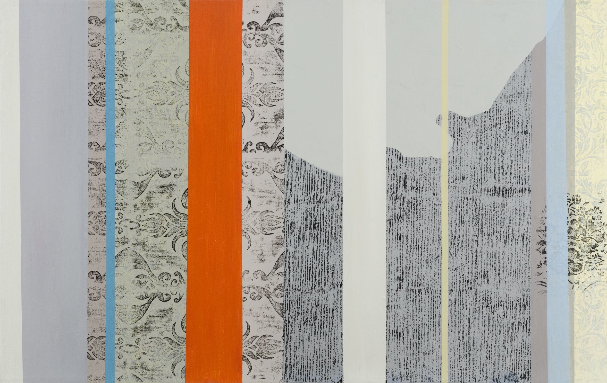 Inside-out  2009, 95 x 122cm acrylic on canvas