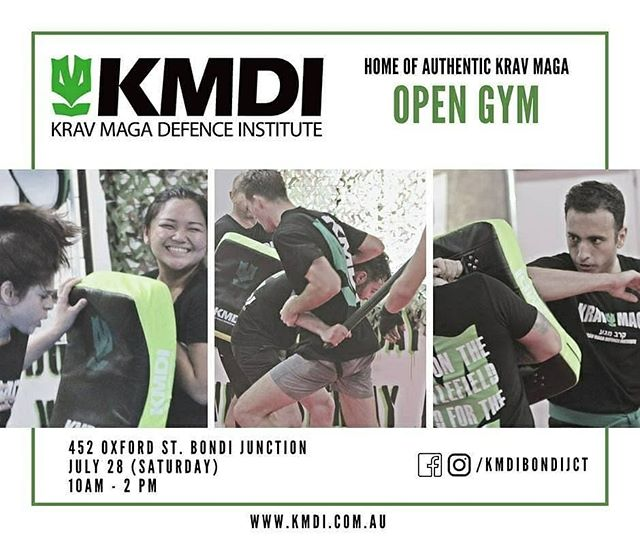 Come on down to @kmdibondijct  Today for open gym.  Everyone is welcome. Join a class, see our facility, meet some of our instructors.  Oxford street mall, above mitre 10.  Regrann from @kmdibondijct -  Join us for our fun JULY OPEN GYM SESSION - all you have to do is bring yourself and invite a friend or two!  Try a KRAV MAGA class for free and cool down by attending talks on self-defense and stretching and mobility from our very own KMDI instructors!  So whether you've always wanted to try Krav Maga or if it's been a while and you're looking for an excuse to get back in it, this is the perfect chance so SAVE THE DATE - JULY 28! - #regrann