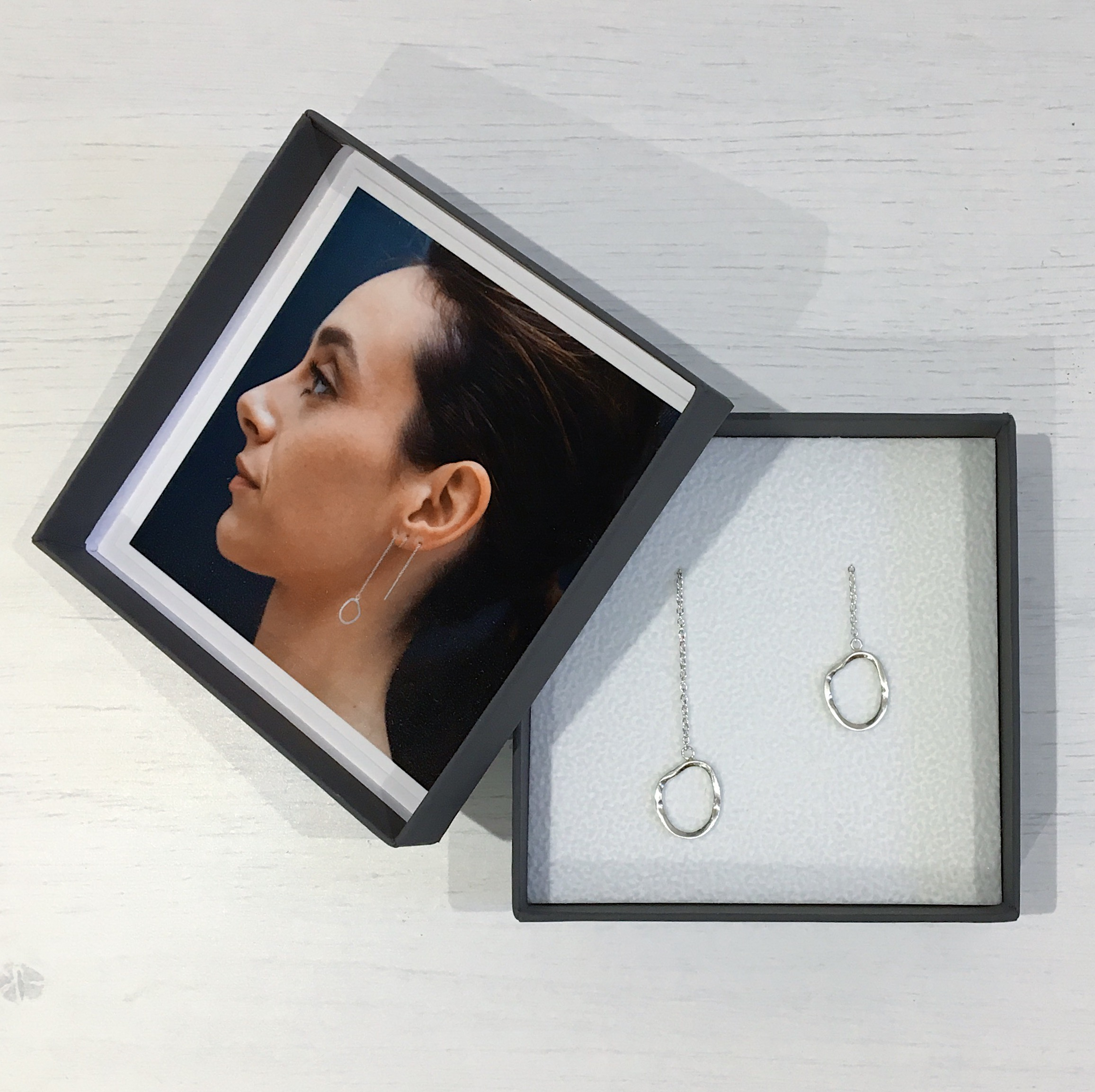 Sonya Chauhan ~ 'BURNT OUT', silver threader earrings