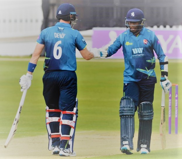 Joe Denly and Bell-Drummond switched polaces at the top of Kent's batting order halfway through the season