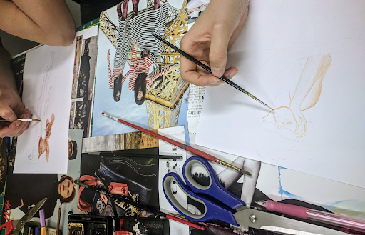 Drawing, textile design and Portfolio improving - Are you interested in textile design and fashion? Do you dream about creating excellent pieces, or need a good portfolio but have no idea where to start?