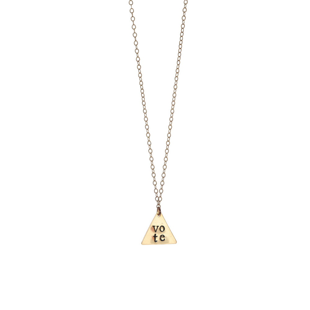 Vote Necklace Cable Chain