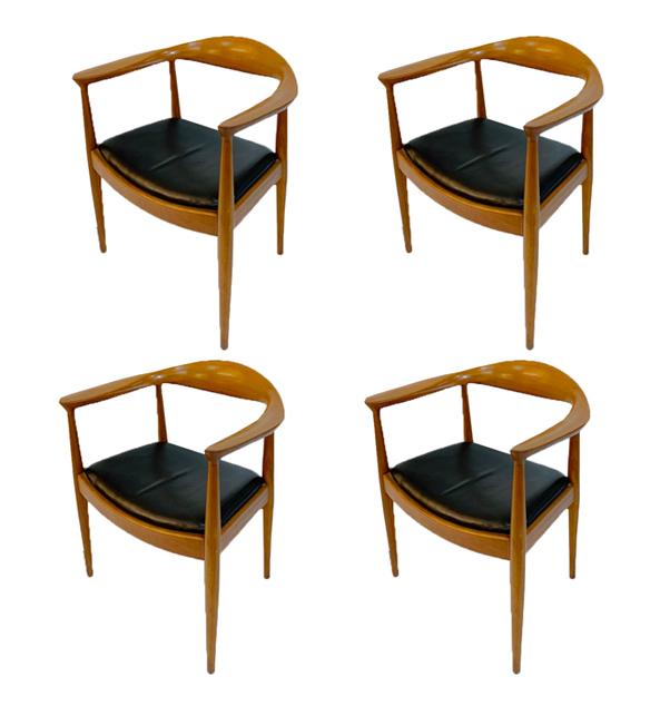 Hans Wegner Chairs By Danish Deluxe 1960s Clavel