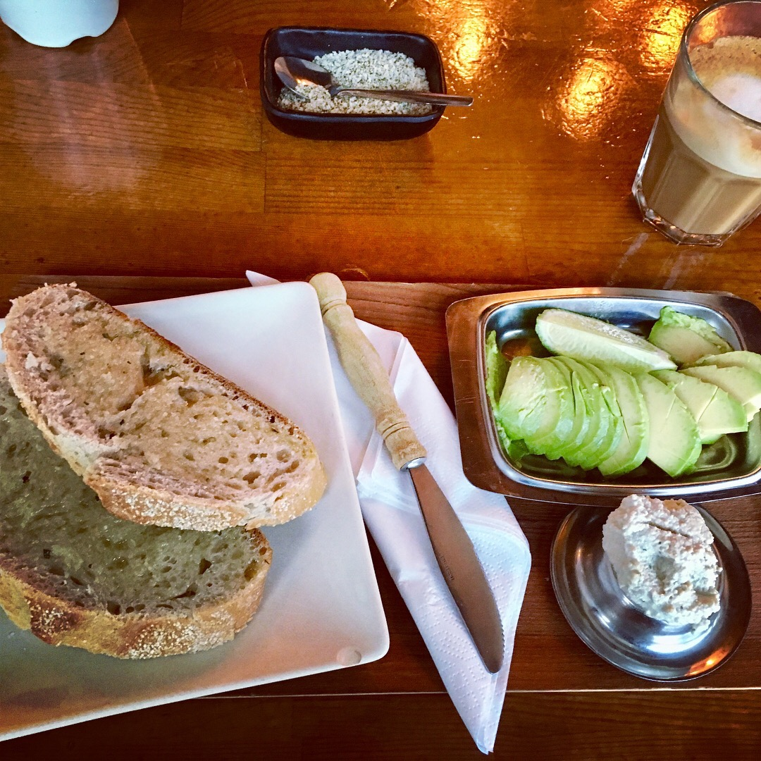 Breakfast at Kaffi Vinyl - omg I love cashew cream cheese, where have you been all my life?