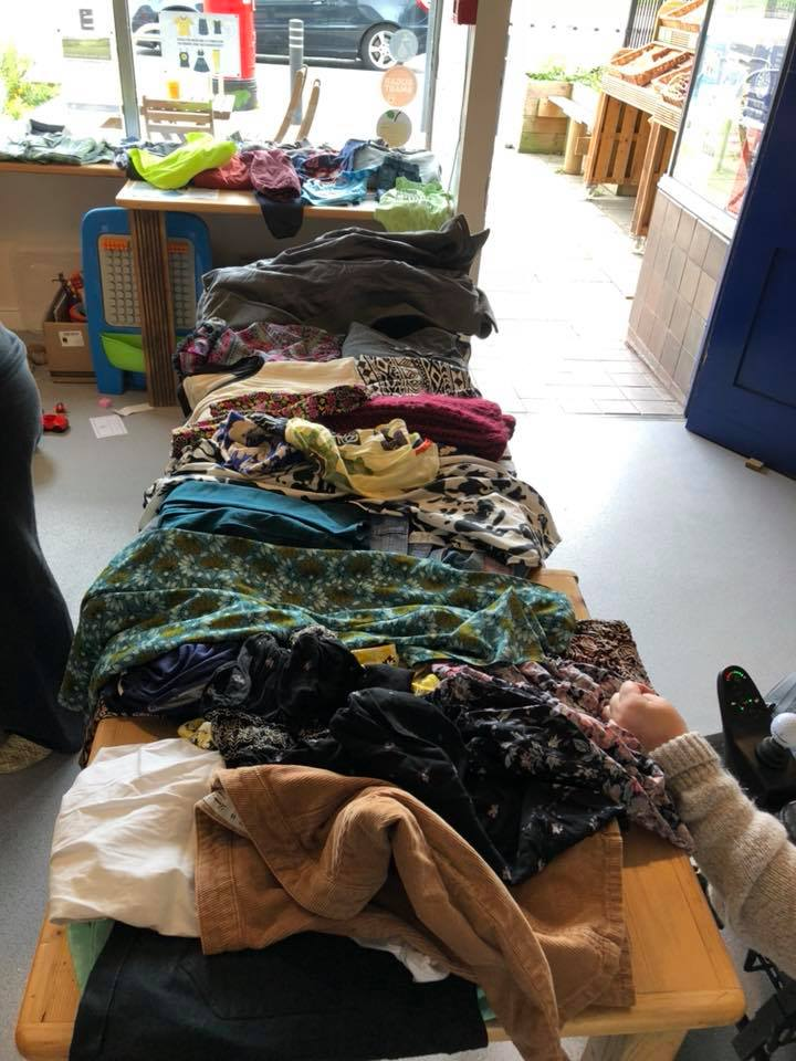 Clothes swaps are a great to get 'new' clothes without actually buying new clothes!