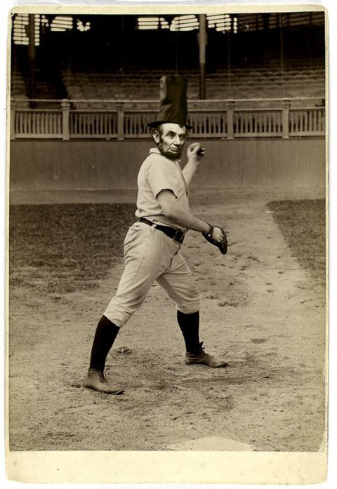 Lincoln playing baseball