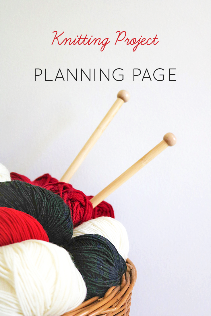 - Keep your wardrobe plans organized and plan your knitting projects with this downloadable planning page which includes space for a sketch of your planned make and for your yarn sample or swatch. This download includes two pages with a slightly different layout so that you can distribute your yarn samples and swatches more evenly, and actually close the binder you keep your planning pages in.
