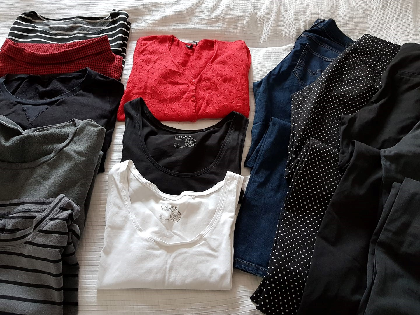 My first ever capsule wardrobe.