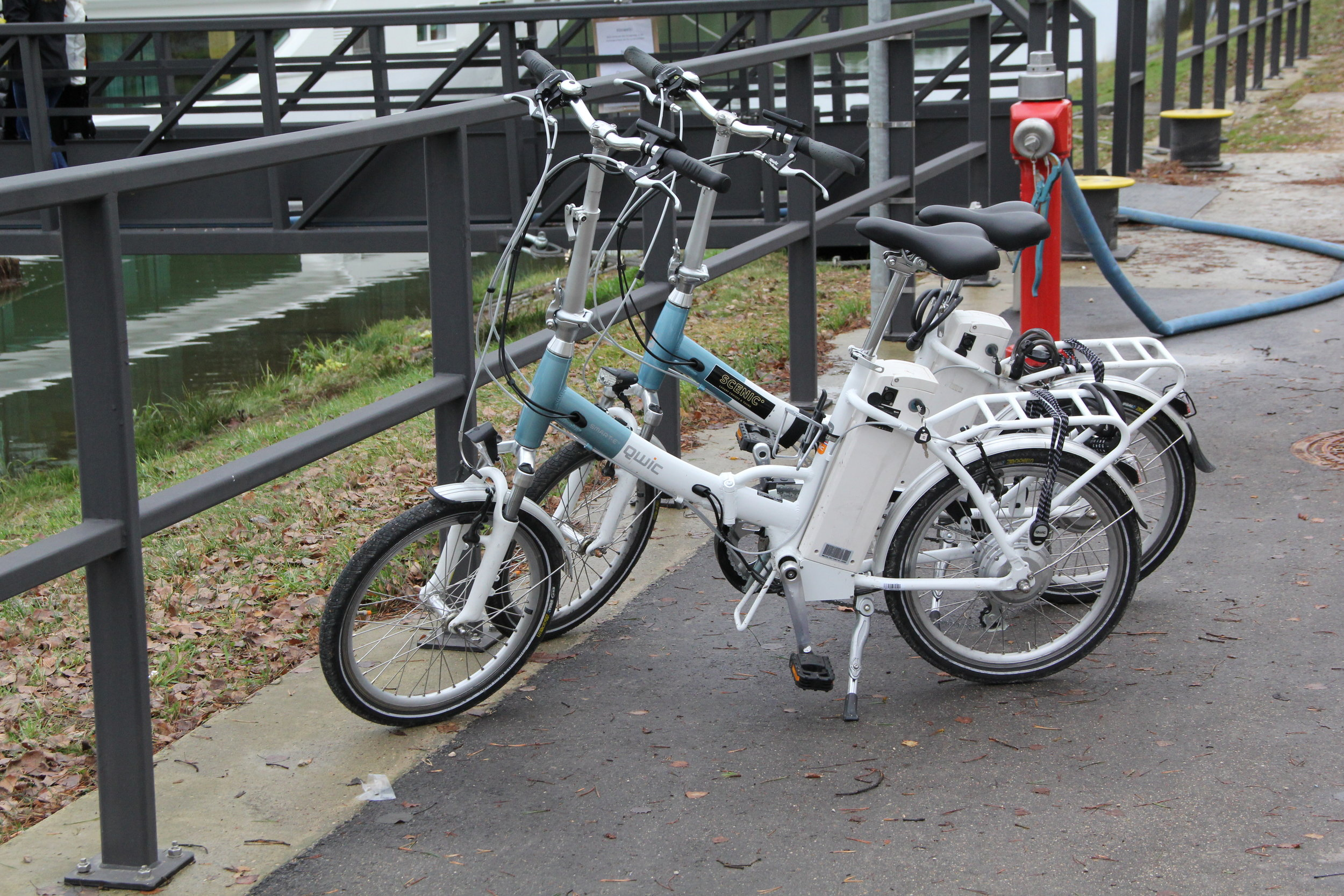 Ebikes ready to go on our Scenic Opel Upper Danube River Cruise