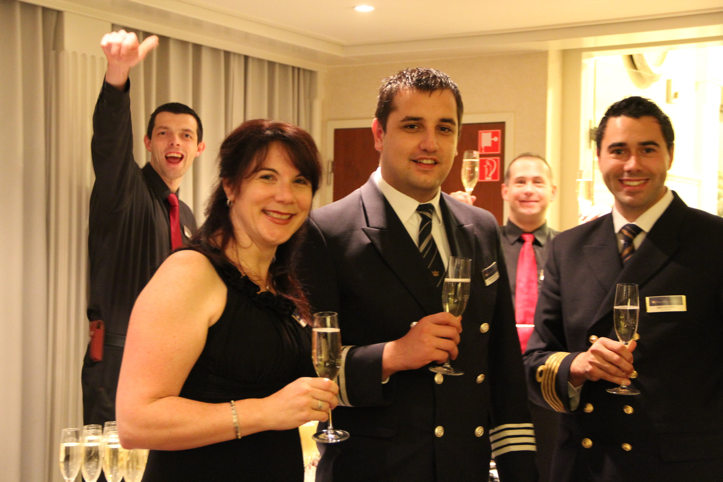 Here is some of the crew who pulled off that wonderful 2014 cruise—amazing adjustment!