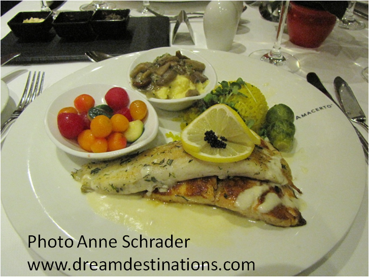 Anne's meal on an AmaCerto—great food!