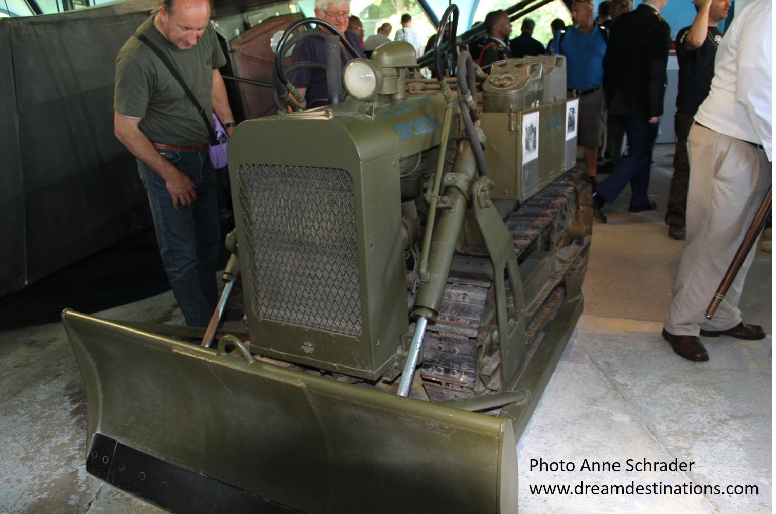 Small bulldozer carried on a glider during the D Day invasion