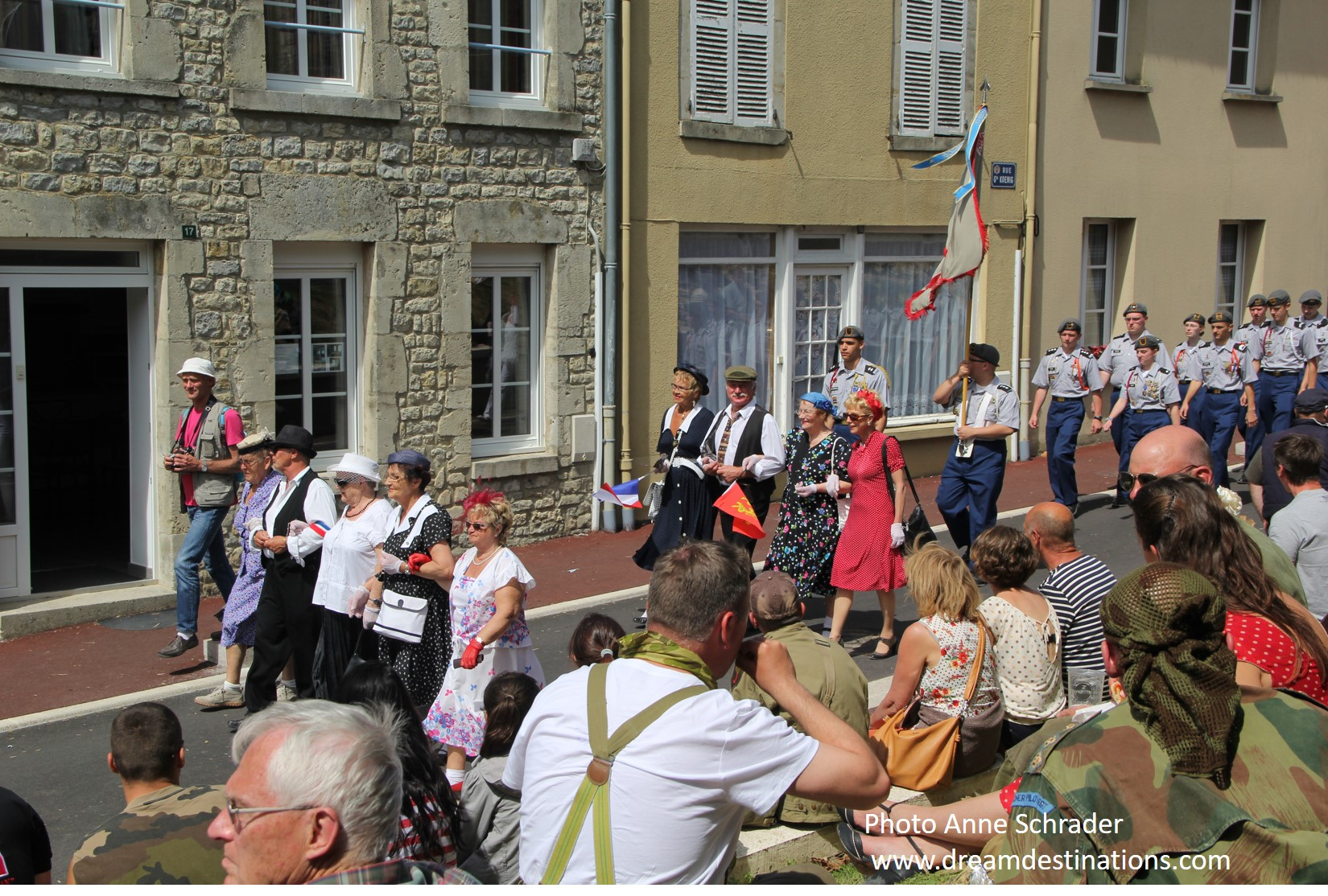 Part of the parade during the 2014 D Day Festival in Ste Mere Eglise