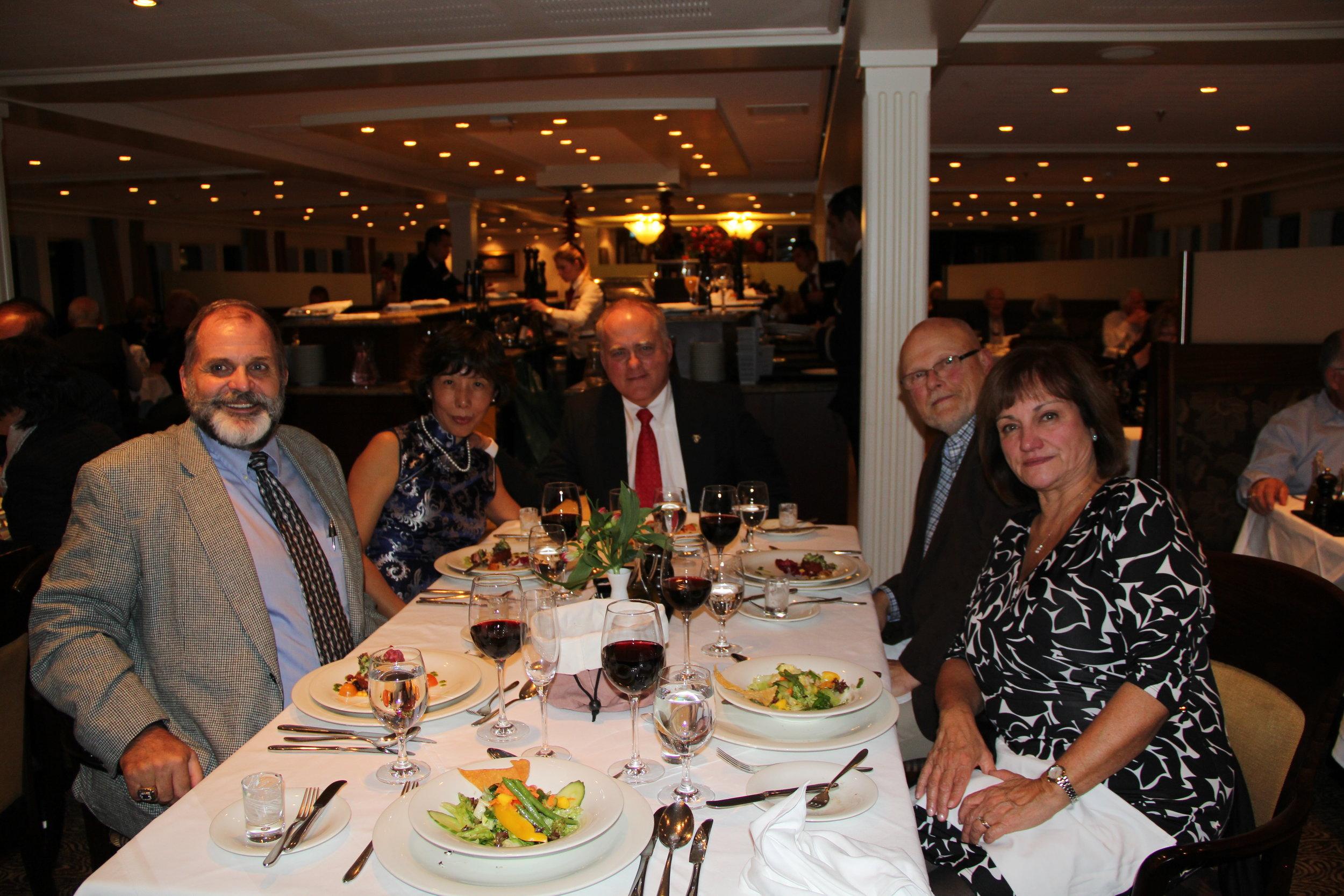 Hank (USMA '71), Jane, Len (USMA '74), Jim (USMA '71) and Maureen on an AmaWaterways River Cruise