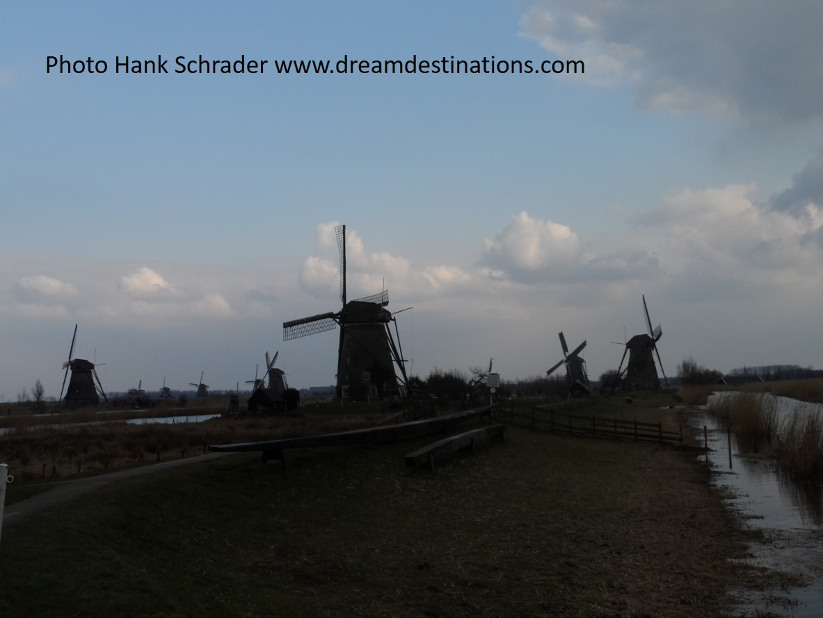 Some of the 19 Windmills at Kinderdijk