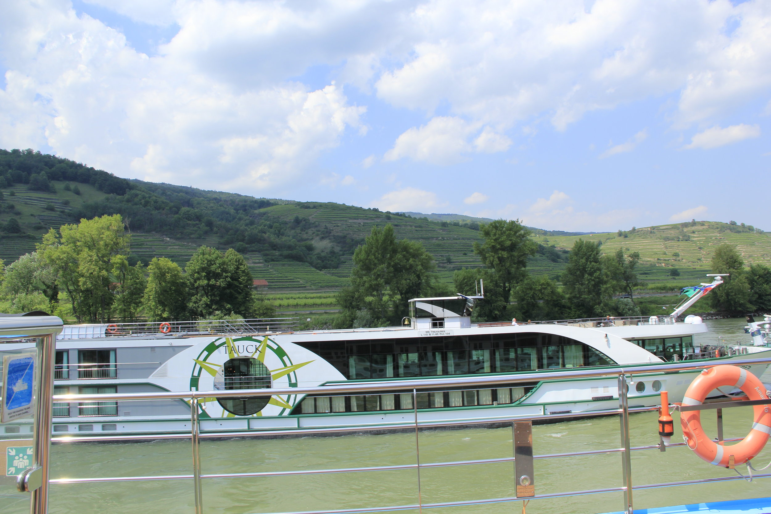 Tauck Treasures Rivership—this picture was taken from an AmaWaterways rivership in 2018