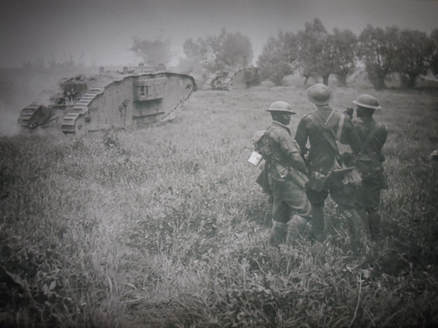WW I Tanks Photograph on display in the Tourist Information Center